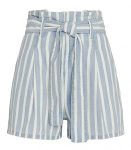Frame Le Denim Striped Shorts