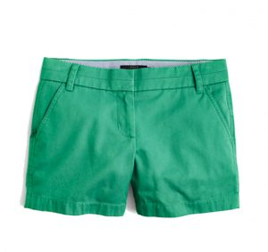 "j.crew 5"" chino shorts green shorts"
