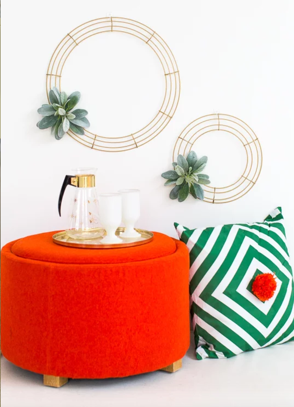 Simple DIY Geometric Wreath
