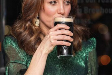 Kate Middleton Drinking a Guinness