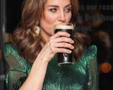 Kate Middleton Drinking a Guinness